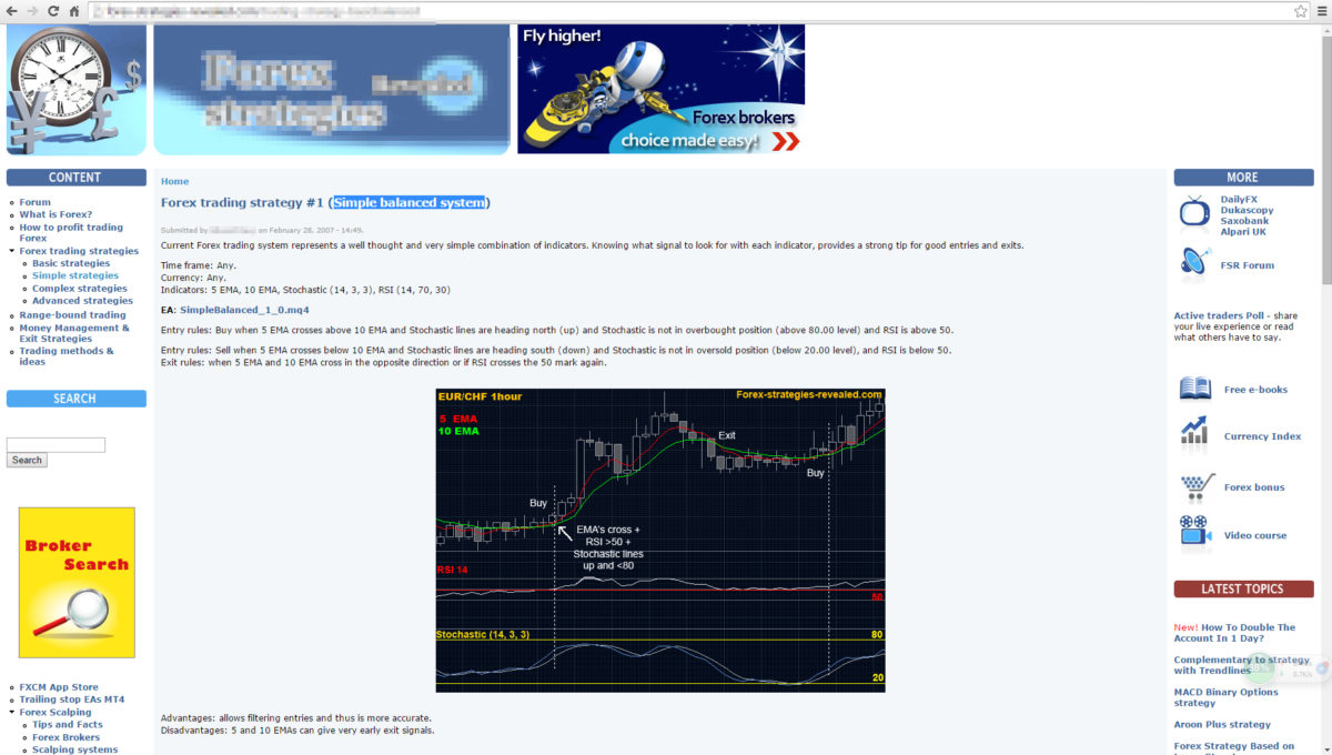 Forex Strategy reviewed #1: Simple balanced system